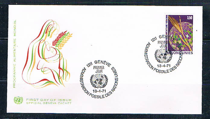 UN 17 FDC Single Geneva Office Cachet 1971 (UNCV0359)+