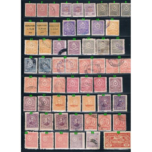 Paraguay MNH and used 1905 to 1930s (10794_p1)
