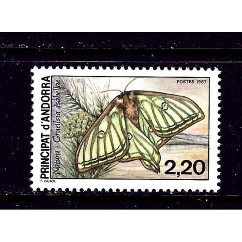 French Andorra 356 MNH 1987 Butterfly