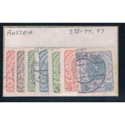Austria 238 Mixed condition Partial Set Scott 's Shown 1920 (A0229)