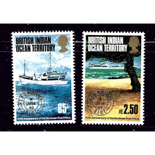British Indian Ocean Terr 57-58 MNH 1974 Traveling Post Office