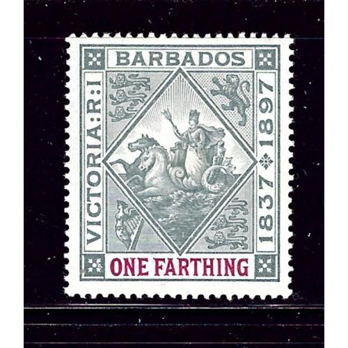 Barbados 81 MHR 1897 issue