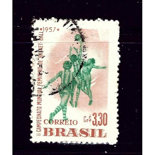Brazil 852 Used 1957 Basketball       (P55)