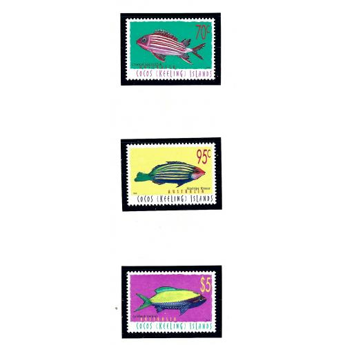 Cocos Is 327-28 MNH 1998 Fish       KA)