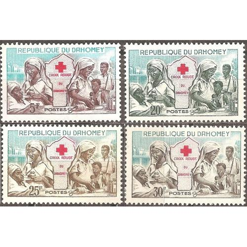 Dahomey: Sc. no. 156-159 (1962) MNH Full Set