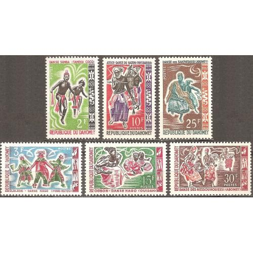 Dahomey: Sc. no. 185-190 (1964) MNH Full Set
