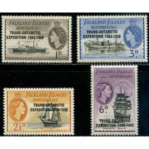 Falkland Islands  Dependencies SC# 1L34-7 set MH SCV $ 2.25