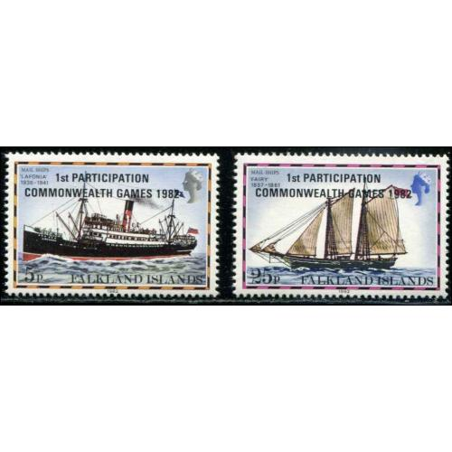 Falkland Islands SC# 352-3 Ships MNH SCV $0.75