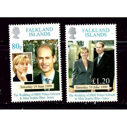 Falkland Is 729-30 MNH 1999 Prince Edward Wedding