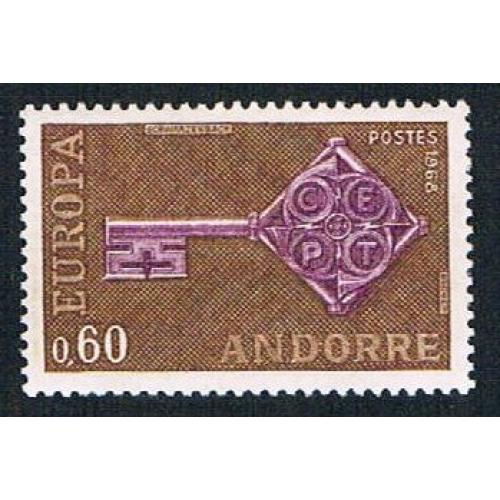 French Andorra 183 MLH Key CV 10.00 (BP873)
