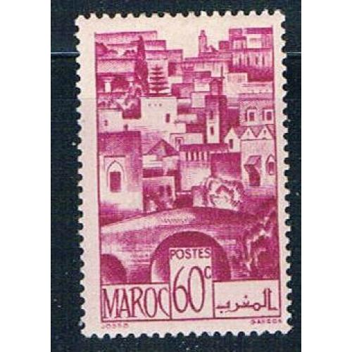 French Morocco 224 MLH The Terraces 1947 (F0139)+