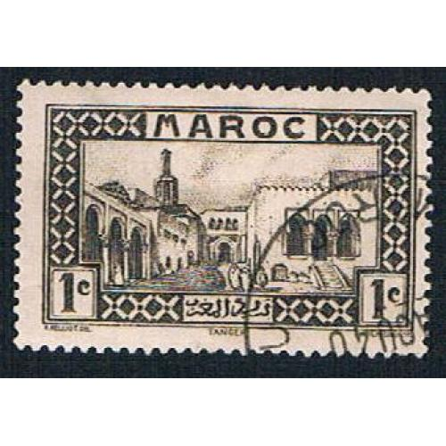 French Morocco 124 Used Old Treasue House (BP1336)