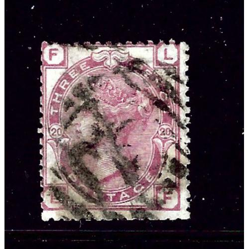 Great Britain 61 plate #20 Used 1873 issue; 2019 SCV $110.00