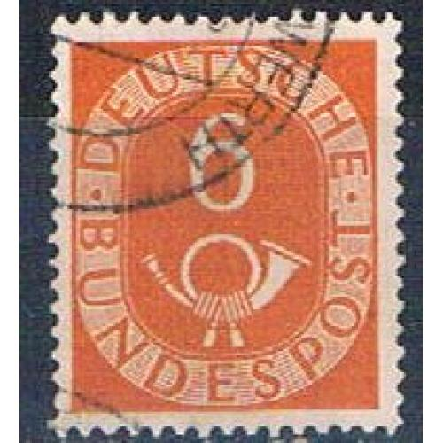 Germany 673 Used Numeral and Post Horn 1951 CV 3.00 (G0401)
