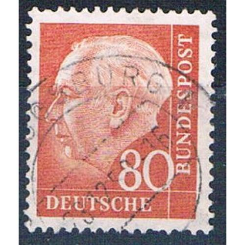Germany 760 Used President Heuss 1956 CV 1.90 (G0415)