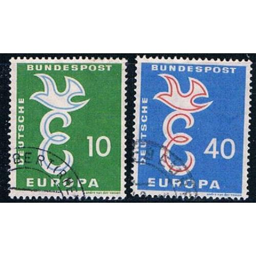 Germany 790-91 Used Europa 1958  (GI0659P194)+