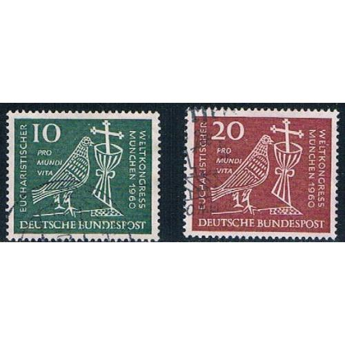 Germany 811-12 Used set Dove Chalice and Crucifix CV 1.20 (GI0645P186)+