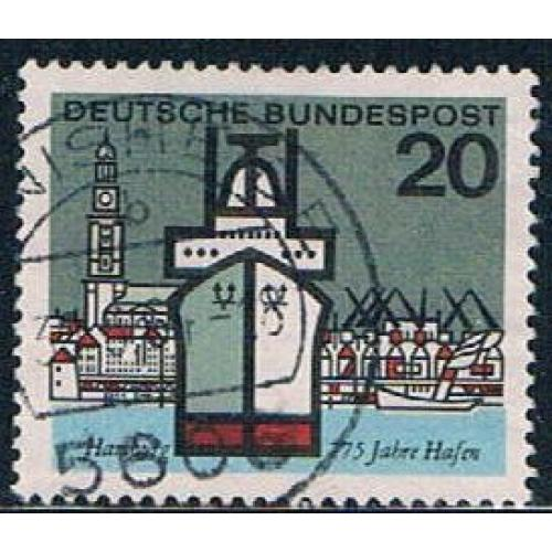 Germany 870 Used Hamburg Harbor (GI0573P159)+