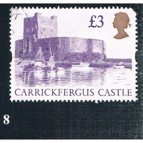 Great Britain 1447A Used Carrickfergus Castle CV 3.00 (BP0008)