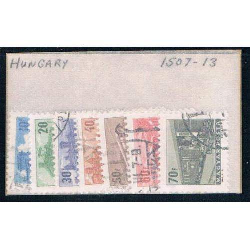 Hungary 1507-13 Used Partial Set Scott nums Shown CV 1.75 1963 (H0078)