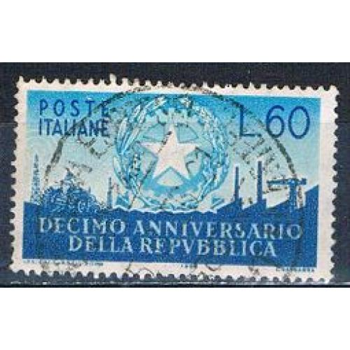 Italy 712 Used Aniversary of Republic 1956 CV 5.50 (MV0280)