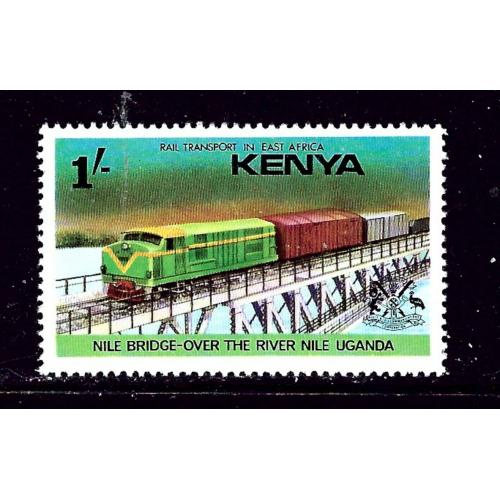 Kenya 65 MH 1976 Train on Bridge