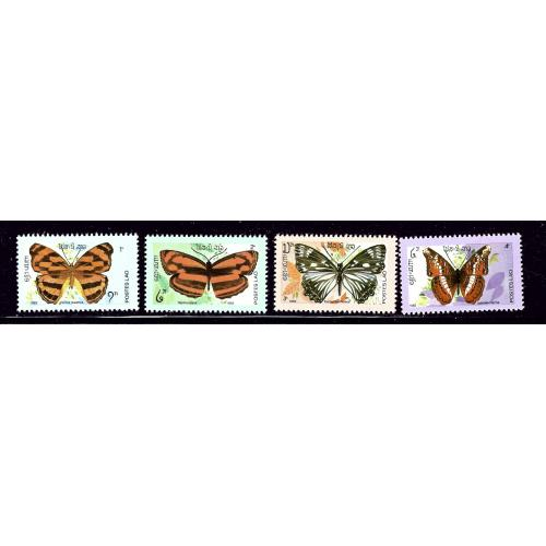 Laos 386-89 MNH 1982 Butterflies partial set