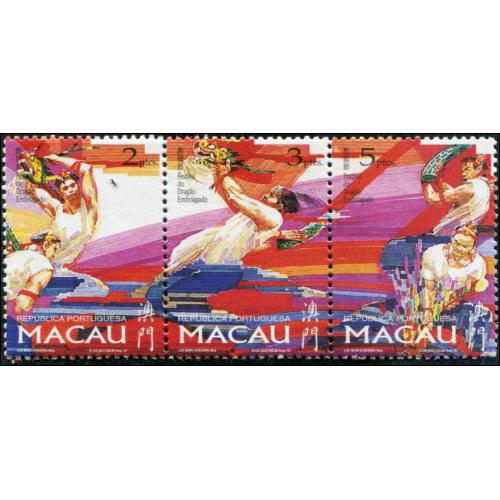 Macao  SC# 847-6  set MNH  STRIP OF THREE
