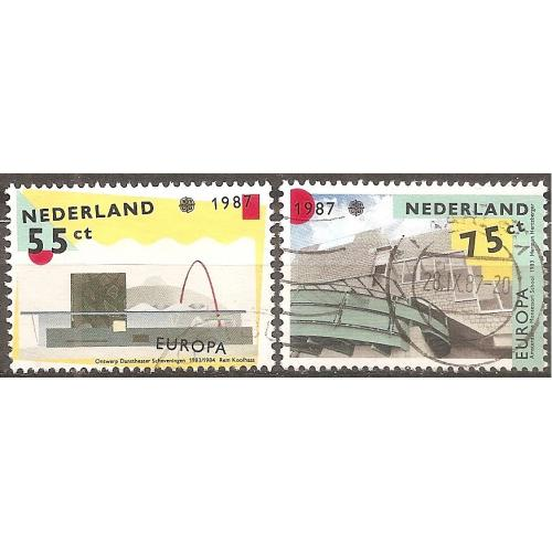 Netherlands: Sc. no. 715-716 (1987) Used Full Set