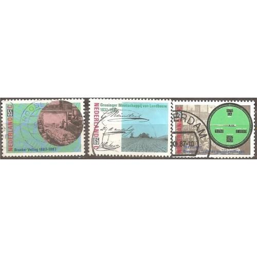 Netherlands: Sc. no. 717-719 (1987) Used Full Set