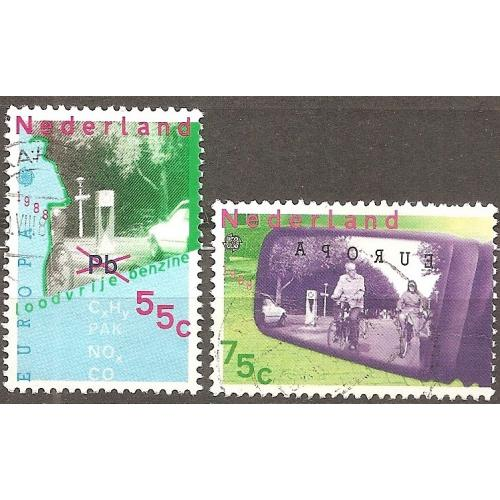 Netherlands: Sc. no. 729-730 (1988) Used Full Set
