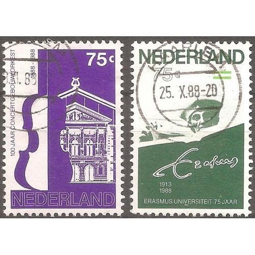 Netherlands: Sc. no. 737-738 (1988) Used Full Set