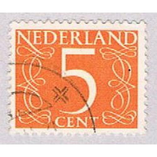 Netherlands 342 Used Numeral 5 1953 (BP3341)