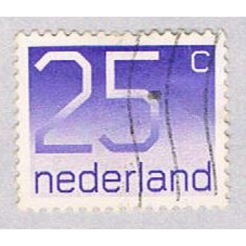 Netherlands 538 Used Numeral 25c 1976 (BP33421)