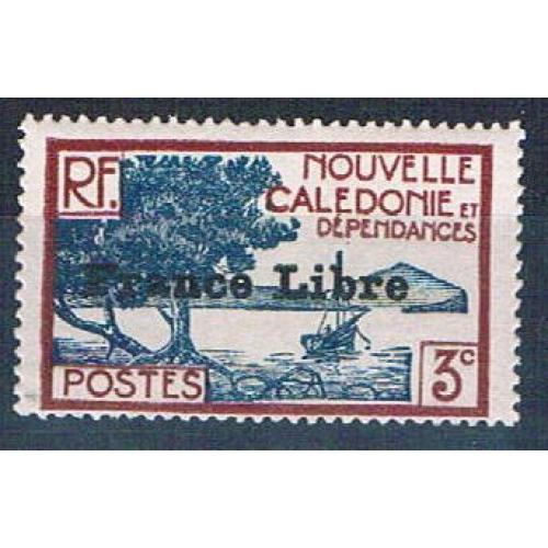 New Caledonia 219 MNH Bay of Paletuviers overprint 1941 CV 13.50 (N0588)+