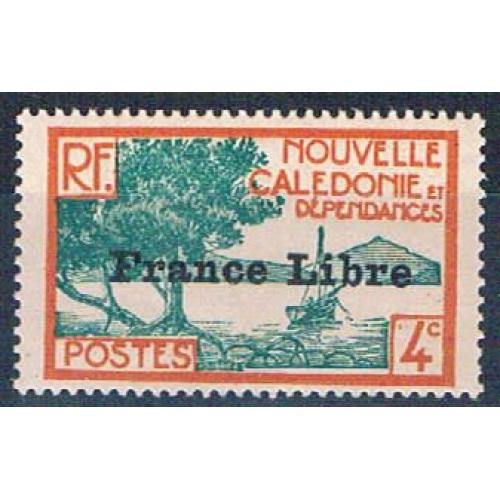 New Caledonia 220 MNH Bay of Paletuviers overprint 1941 CV 13.50 (N0589)+