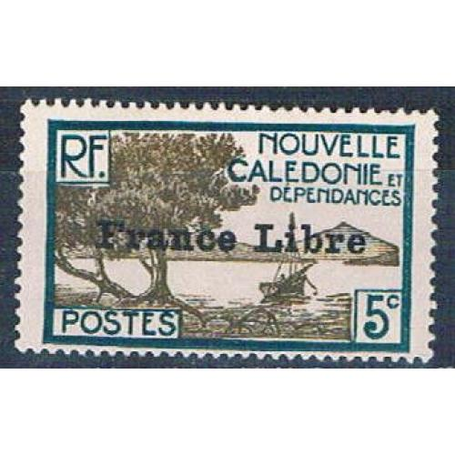 New Caledonia 221 MNH Bay of Paletuviers overprint 1941 CV 13.50 (N0590)+