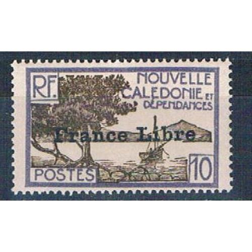 New Caledonia 222 MNH Bay of Paletuviers overprint 1941 CV 13.50 (N0591)+