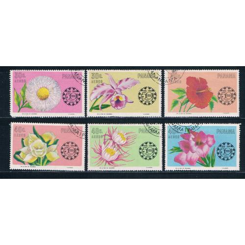 Panama C343-48 Used set Flowers 1966 CV 2.10 (HV0009)