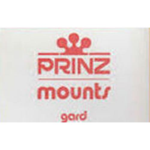 Prinz Mounts Pre-cut plate blocks size 73/63 pkg of 25