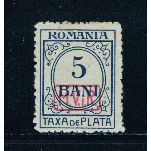 Romania 3NJ1 MH Postage Due overprint CV 20.00 (R0198)