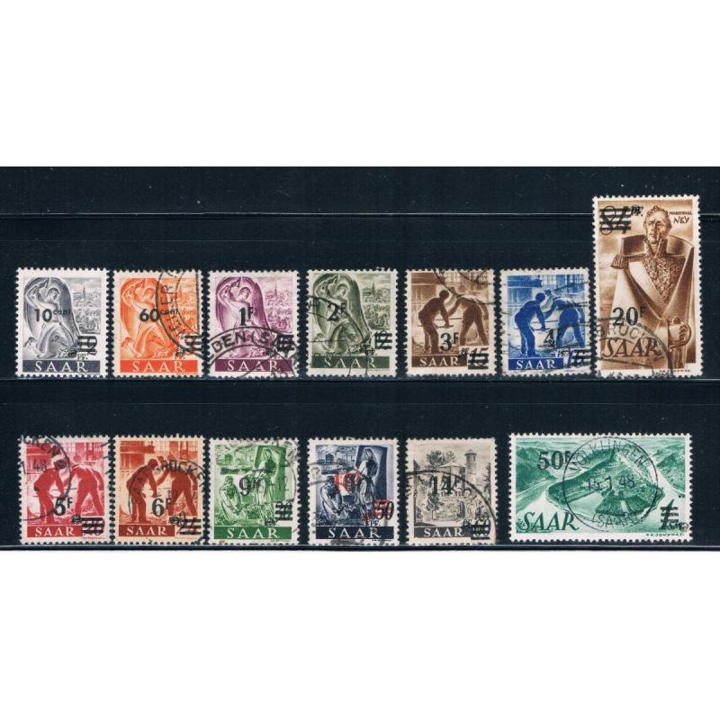 Saar 175 87 Used set 175 MNH rest used CV 108.20 (S0699)