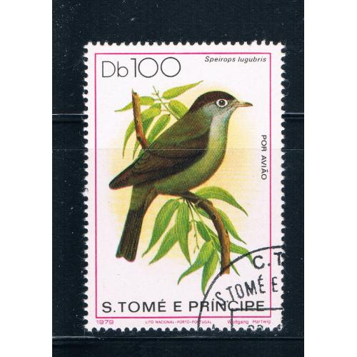 Saint Thomas and Prince Is 546 Used Bird Speirops lugubris CV 16.00 (S0694)