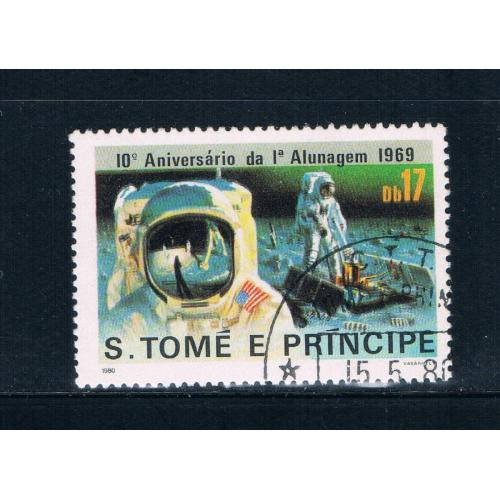Saint Thomas and Prince Is 581 Used Astronauts CV 7.00 (GI0448)+