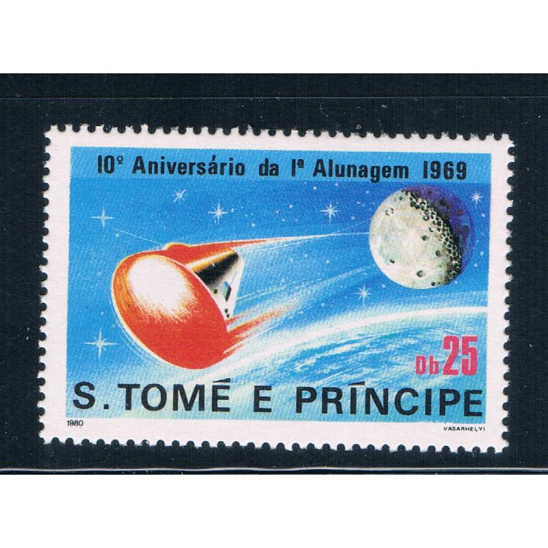 Saint Thomas and Prince Is 582 MNH Space Command Module CV 10.00 (GI0450)+