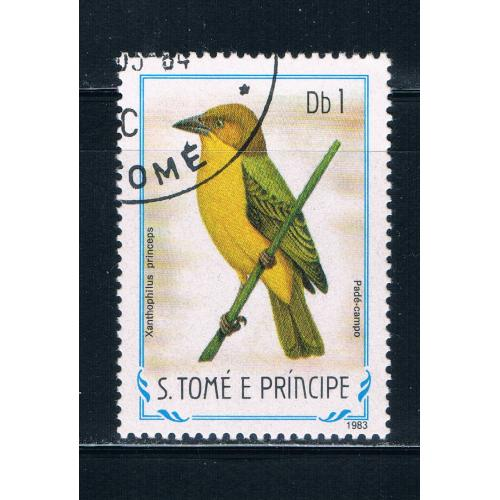 Saint Thomas and Prince Is 728 Used Bird ul (GI0368)+