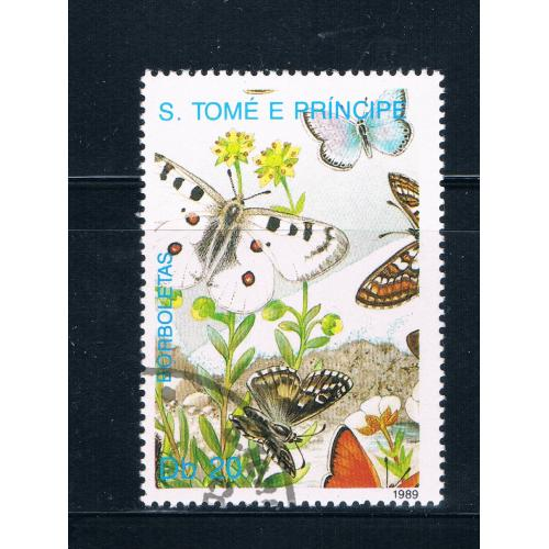 Saint Thomas and Prince Is 900 Used Butterflys ll (GI0414)+