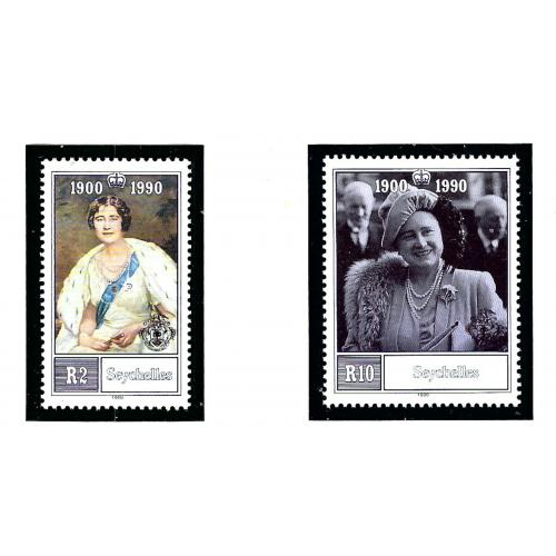 Seychelles 710-11 MNH 1990 Queen Mother Birthday