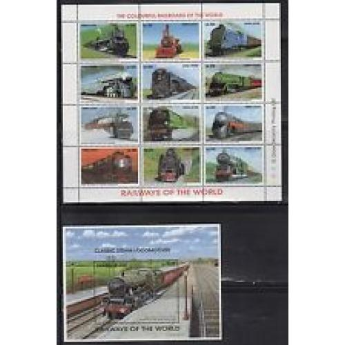 Sierra Leone 1850-53Q MNH 1995 Locomotives 4 sheets of 12; 5 S/S
