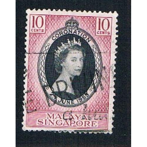 Singapore 27 Used Coronation Issue (BP22217)